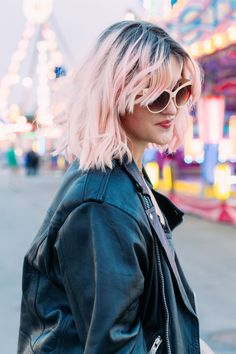 Pink | Hair | Colorista | Edgy | Bikerjack | More on Fashionchick.nl