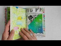 (70) Turquoise Junk Journal Flip Through - YouTube