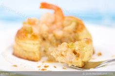 This recipe was inspired by Julia Child's Mastering the Art of French Cooking Vol. 2.  It was developed as a shrimp based filling for a small Vol-au-vent.
