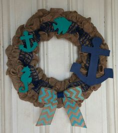 Nautical Burlap Wreath