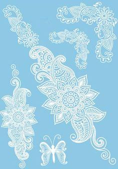 Wedding Bridal Lace Waterproof Henna Temporary Tattoos