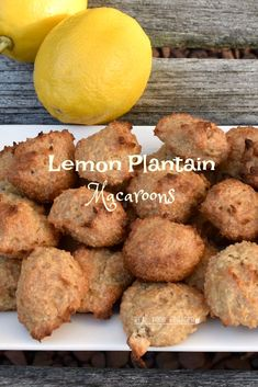 Plantains are great for holding things together in a recipe – especially if you are not using eggs. Plantains are perfect for these egg-free Lemon Plantain Macaroons (Paleo, AIP)! Paleo Recipes, Real Food Recipes, Dessert Recipes, Desserts, Paleo Ideas, Plantain Recipes, Egg Free, Macaroons, Clean Eating Recipes