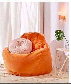 29f055cb67e Urban outfitters. smaller bean bag chair for corner at end of bed. goes well