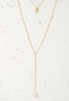 Faux Stone Necklace Set | Forever 21 - 1000134201