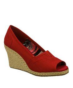 Look at this #zulilyfind! Red Cali Club Wedge #zulilyfinds