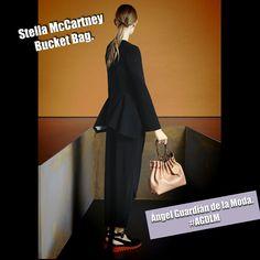 Stella McCartney Bucket Bag. #AGDLM #fashion #moda #stellamccartney #bag #accesorios #accesories #style #photooftheday #hair #girl #girls #model #black #shoes #outfit