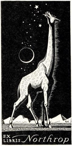Ex Libris bookplate for Northrop by Rockwell Kent, 1933