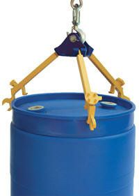 Multi-Purposse Overhead Drum Lifter/Wrench. Simple three-arm design for use with closed head 30 and 55 gallon plastic, steel and fiber drums with top lip. Each removable arm also functions as a wrench for use on drum plugs, faucets and rim ring bolts. Durable powder coat finish. Steel construction. Specs: capacity 800 lbs.