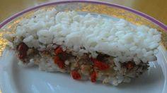 Ryžový dezert s orechovým tofu krémom a goji