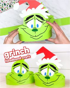 Grinch craft headband for kidsWant to find the best Grinch craft for kids for Christmas? This DIY Grinch headband craft is perfect! It's easy to do with toddlers, preschool and kindergarten children. Kindergarten Christmas Crafts, Christmas Crafts For Kids To Make, Christmas Activities For Kids, Preschool Crafts, Kids Christmas, Holiday Crafts, Kindergarten Classroom, Summer Crafts, Kid Crafts