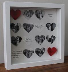 Personalised anniversary gift. Bespoke 16 heart by SecretDesignsUK