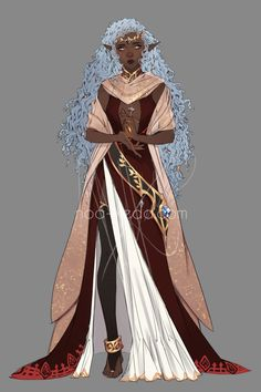 Elven Princess Auction by noa-ikeda Fantasy Character Design, Character Creation, Character Design Inspiration, Character Concept, Character Art, Concept Art, Elf Characters, Black Characters, Fantasy Characters