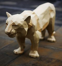 Lise Lefebvre paper folding kit tiger