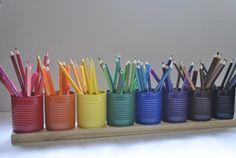 Colored Pencil Storage, Colored Pencil Holder, Wood Pencil Holder, Crayon Holder, Colored Pencils, Crayon Storage, Crayon Organization, Marker Storage, College Organization