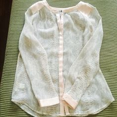 Ann Taylor sheer blouse Perfect condition! Ann Taylor Tops Blouses