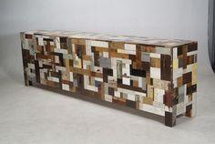 reclaimed wood sideboard  by Piet Hein Eck