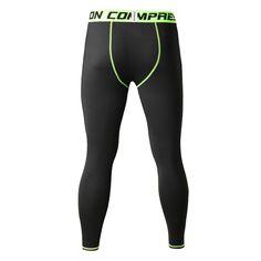 Coolmax Quick Dry Black Men's Leggings Compression Tights