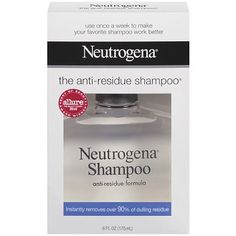 Neutrogena Anti-Residue Formula Shampoo- ok so this works, but leaves your hair extremely dry. Use once a week at most. I found that using this my hair towel dried fast, and was very frizzy if I blow dry and straighten it. I have thick hair. It's ok, but I felt I had to use a mask that week too, not something you should have to do using this. Almost the opposite lol