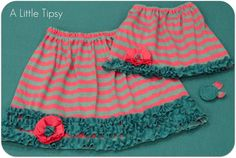 Someday Crafts: Guest Blogger - A Little Tipsy - Ruffly Knit Skirt
