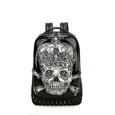 Aibag Vivid 3D Pirate Skull Backpacks Back to School Laptop Bag -- Learn more by visiting the image link.