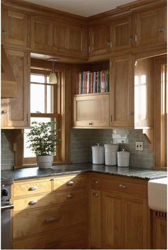Supreme Kitchen Remodeling Choosing Your New Kitchen Countertops Ideas. Mind Blowing Kitchen Remodeling Choosing Your New Kitchen Countertops Ideas. Birch Cabinets, Wood Kitchen Cabinets, Kitchen Redo, New Kitchen, 10x10 Kitchen, Wooden Kitchen, Brown Cabinets, Kitchen Tile, Country Kitchen