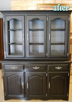 Better After: Double Hutch...what my next job to do refinish the dinning room set