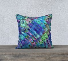 The Ripple Effect III, Underwater - Pillow Cover, Square, 18x18