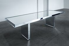 tokujin yoshioka expands PRISM collection for glasitalia with mirror table #isaloni2014 #milandesignweek