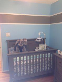 Baby Boy Nursery Grey And Blue