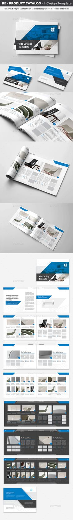 RE  Product Catalog InDesign Template  — InDesign Template #template #indd • Download ➝ https://graphicriver.net/item/re-product-catalog-indesign-template/18212612?ref=pxcr