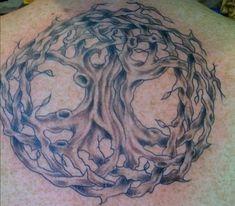 A Celtic tree of life tattoo. Tree Tattoo Designs, Tattoo Designs And Meanings, Tattoo Ideas, Sun Tattoos, Body Art Tattoos, Tree Tattoos, Tatoos, Tree Tattoo Meaning, Tattoos With Meaning