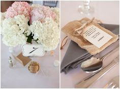 Reception details, place setting, Kenny & Emily | Kings Creek Marina Eastern Shore Wedding Photography, Gray Blush Pink Bridesmaids Dresses, McPhersonPhotography, www.McPhersPhotos.com