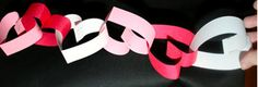 DIY Heart Paper Chain A simple but creative DIY Valentine's Day Gift Idea For Expectant and new Mums