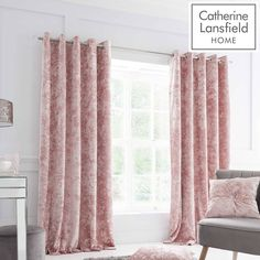 Crushed Velvet Eyelet Room Darkening Curtains Catherine Lansfield Colour: Blush, Panel Size: 168 W x 183 D cm Room Darkening Curtains, Crushed Velvet, Duvet Cover Sets, Timeless Design, Decoration, Blush Pink, Living Spaces, Bedroom Decor, Luxury