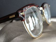 Vintage 1950s 'Mad Men' Glasses Shuron Clubmaster by FarmGarl