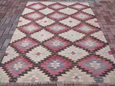 "Anatolia Turkish Antalya Nomads Kilim 64,9"" x 88,5"" Area Rug Carpet Wool #Turkish"
