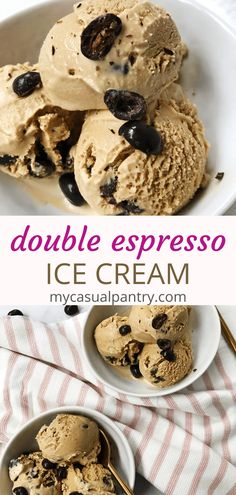 A double punch of espresso flavor is packed in this ice cream. No eggs means just mix and churn and chill! | mycasualpantry.com #icecream #easyrecipes #espresso #frozentreats #sweets #dessert Espresso Ice Cream, Double Espresso, Coffee Ice Cream, Summer Desserts, No Bake Desserts, Delicious Desserts, Dessert Recipes, Homemade Ice Cream, Vegetarian Chocolate