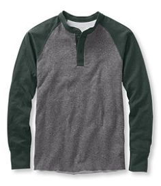 #LLBean: Two-Layer River Driver's Shirt, Baseball Henley Colorblock
