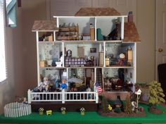 Fully Furnished Country Farm Doll House with Miniatures and EXTRAS 1 12 Scale   eBay