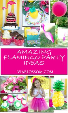 Top Flamingo Party Ideas for your summer parties!  Flamingo decorations and party supplies!