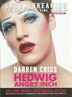 PRINT AD Hedwig & the Angry Inch DARREN CRISS Broadway theatre ADVERTISING PAGE
