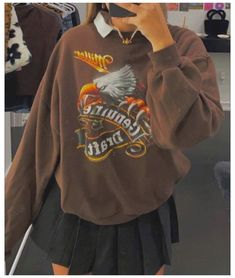Indie Outfits, Teen Fashion Outfits, Retro Outfits, Cute Casual Outfits, Look Fashion, Fall Outfits, Vintage Outfits, Girl Fashion, Teenager Fashion