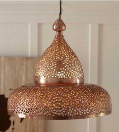 Copper Moroccan Hanging Lamp