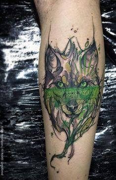 Watercolor tattoo Felipe Rodrigues lobo Mais