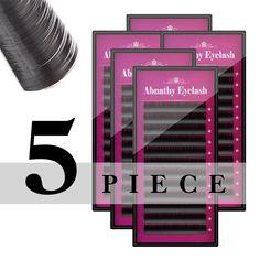 5cases set,ABNATHY high-quality mink eyelash extension,fake eyelash extension,individual eyelashes,nature eyelashes ** Click image for more details.