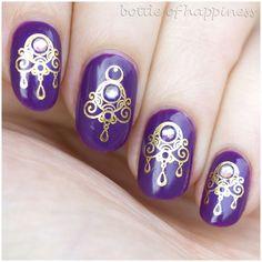 Golden Rose Paris 229 + water decals #nails #nailart