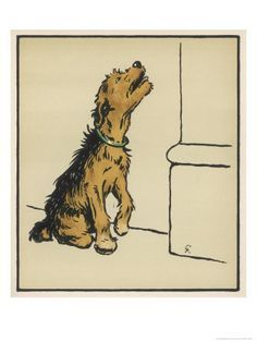 Cecil Aldin (my favorite vintage dog artist from england) Airedale