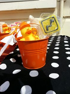 Party favors for construction site birthday
