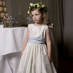 Nicki Macfarlane Couture 'Made to Order' Silk Dupion Dress & Sash Set at Childrensalon.com
