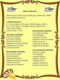 Tabella di misura su pinterest - Conversione unita di misura portata ...